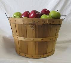 green and red apples in basket. prop title: basket with red and green apples - (basket j 062, g 184, 197) model#: 199. details: 62 in r