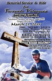 fernando vasquez memorial service and ride