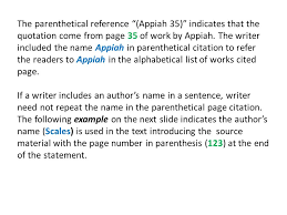 parenthetical citation in mla format in text parenthetical citations mla style ppt download