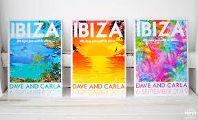 Photo Invitation Postcards Ibiza Vintage Travel Poster Postcards Wedding Invites Wedfest