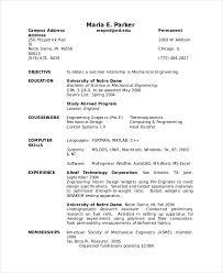 Undergraduate Resume Template Doc