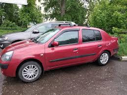 <b>Багажные дуги на</b> крышу — Renault Symbol, 1.4 л., 2004 года на ...