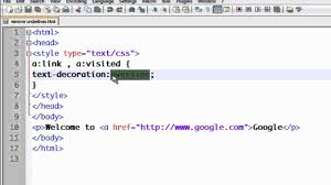 CSS Tutorial - 10 Removing the underlines from links.mp4 - YouTube