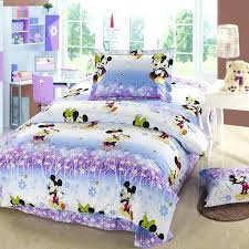 decoration stunning mouse bedroom set full size purple and blue mickey twin minnie bedding bed sheets kissing creative fresh b