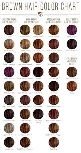 24 Shades Of Brown Hair Color Chart To Suit Any Complexion