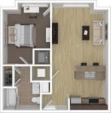 1 bedroom 1 bathroom 1x1 floorplan featuring 586 square feet of space