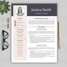 Modern Resume For Freshmen Modern Resume Template Professional Resume Template For Word Cover Letter Modern Cv Template Professional Cv Instant Download Resume