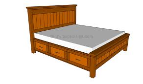 Queen Size Frame Bed With Drawers Platform Frames Mariealicata