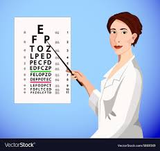 Doctor Chart Doctor Shows An Eye Chart