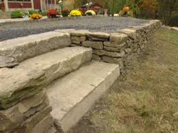 how to build a dry stack stone retaining wall