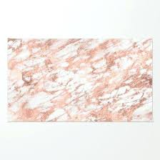 rose gold rug marble pink rose gold marble white metallic case and throw pillow design rug