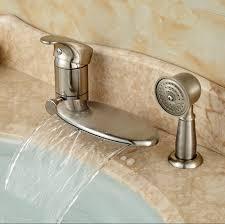 get brushed nickel bathtub faucets aliexpress creative of waterfall bathroom faucet brushed nickel