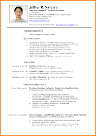 Ideas Of 5 Resume Template Philippines Charming Resume Sample In The