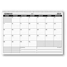 Planning Mensile 21x30 Grey Bi Annuale 2019 2020 Spiralato 24