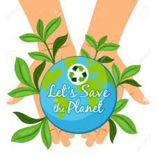Save The Planet Poster. Hands Holding Earth Globe Ecology Concept ...
