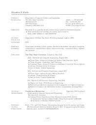Academic Resume And Cv Jobsxs Com