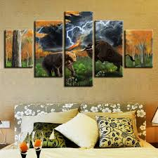 <b>Poster Modular Canvas Pictures</b> HD Printed 5 Pieces Animal Bear ...
