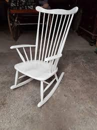 manufacturer unknown vintage white wooden rocking chair44 white