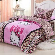pink leopard simple high end kids daybed bedding sets