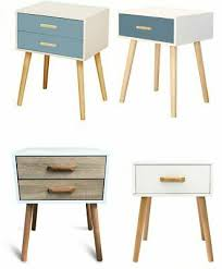 bedside table cabinets white small