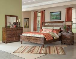 Southern Bedroom Klaussner Southern Pines Whispering Pines King Sleigh Bed In Pine
