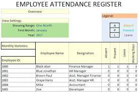 Weekly Attendance Register Template Weekly Attendance Sheet Template Excel Spreadsheet Employee