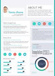 executive cv tania jhone modern resume colorful resume template free download