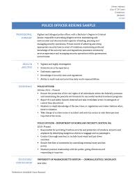 Remarkable Police Officer Resumes Samples With Resume Objective