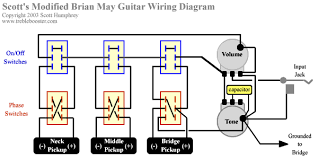 brian pickups and wiring question s figure 4 the modified wiring diagram for the brian guitar note that the wiring of the phase switch of the bridge pickup has been changed