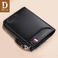 dide genuine leather wallet men s short wallets women brand casual