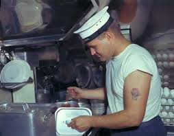 Navy Cook A Royal Canadian Navy Cook Preparing Dinner For The Crew