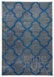 grey blue moroccan trellis rug
