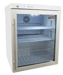 compact table top glass door lab refrigerator