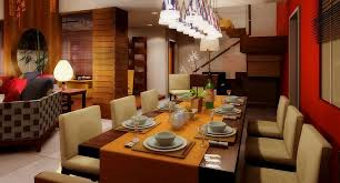 Living Room With Dining Table Living Dining Room Ideas Hanging Lamps Wooden Floor Rectangle