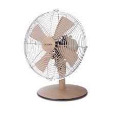 modern desk fan with a light wood finish 12