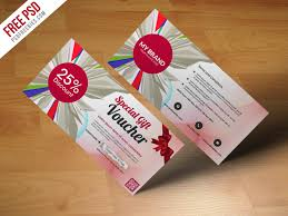 freebie multiuse gift voucher template free psd coupon card e merce free