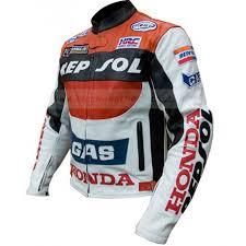 motorcycle racing leather honda repsol jacket zoom motorcycle