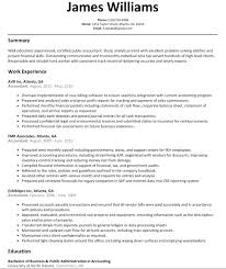 Accounting Resume Templates Impressive 48 Top Accountant Resume Examples