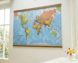 world map wooden wall hanging by maps