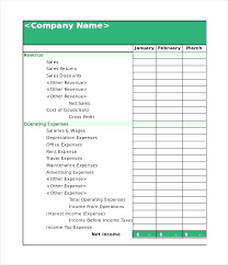 Printable Financial Statement Personal Blank Form Excel Free Forms ...
