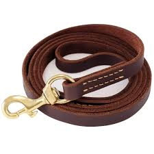com fairwin leather dog leash 6 foot best dog training leash heavy duty for large medium small dogs 5 8 brown fairwin pet supplies