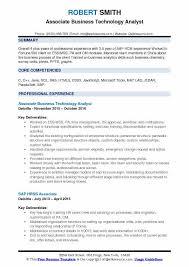 Business Technology Analyst Resume Samples Qwikresume