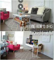 Office Living Room Living Room To Office Makeover Using Items You Already Have