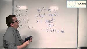 ocr mei core 2 1 09 solving exponential equations by logging both sides
