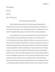 great depression and new deal essay rodriguez maria rodriguez  great depression and new deal essay rodriguez 1 maria rodriguez mr kane apush due 25 2014 great depression and new deal dbq under the