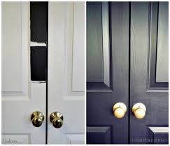 brushed brass hardware. focal point styling: how to paint interior doors black \u0026 update brass hardware brushed b