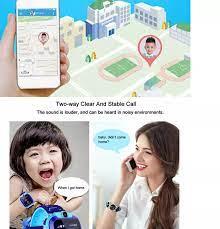 Đồng hồ thông minh Uonevic Q12 cho trẻ em định vị LBS học sinh máy theo dõi  cuộc gọi trò chuyện thẻ SIM 2G IP67 - INTL