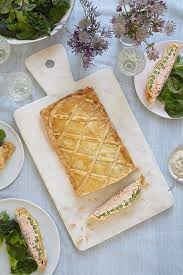 I used my favourite sweet pastry recipe rather than her pastry recipe, but left out the sugar. Mary Berry S Salmon En Croute Recipe With Asparagus Hello