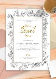 gentle fl housewarming invitation pdf