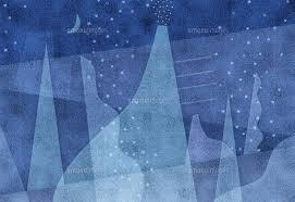 抽象画 氷の様に冷たい青い静寂の月夜の夢[02237013026]の写真素材・イラスト素材 アマナイメージズ